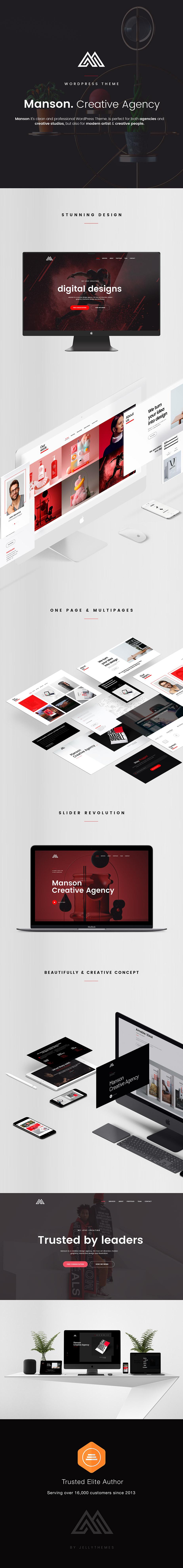 Manson - Creative Agency WordPress Theme - 1