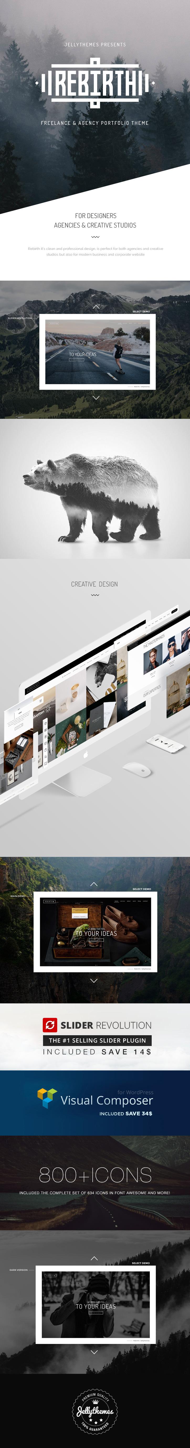 Rebirth - Freelance & Agency Portfolio WordPress Theme (Creative) Rebirth - Freelance & Agency Portfolio WordPress Theme (Creative) rebirthprevwp