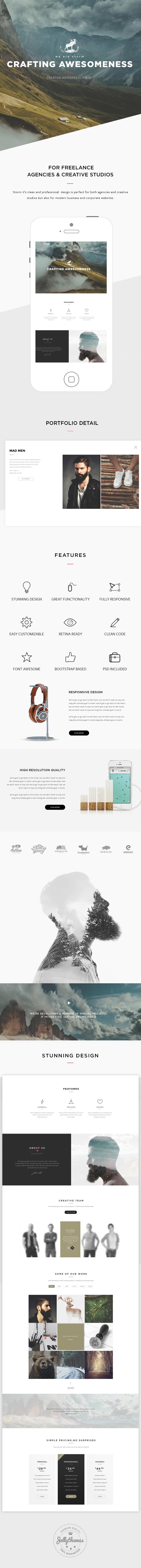 Storm - Creative Multi-Purpose WordPress Theme - 1