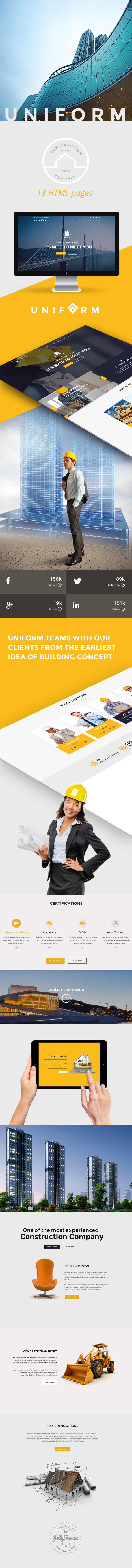 Uniform - Building & Construction HTML Template - 1